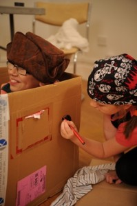 pirate cardboard boxes
