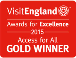 Gold at the VisitEngland Awards for Excellence 2015 – Access for All Category