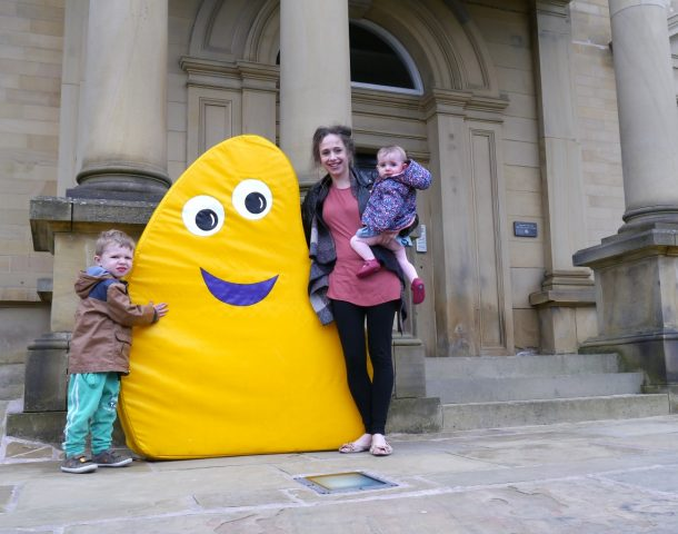 Spencer, Sarah and Summer with a CBeebies Bug