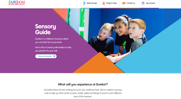 Sensory Guide website home